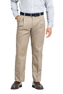 Men's Comfort Waist Pleated No Iron Twill Dress Pants, Front