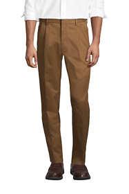 Men's Comfort Waist Pleated No Iron Twill Dress Pants