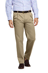 Men S Comfort Waist Pleat Year Rounder Wool Trousers From Lands End