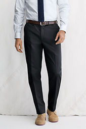 Men's Plain Front Tailored Fit No Iron Dress Twill Trousers