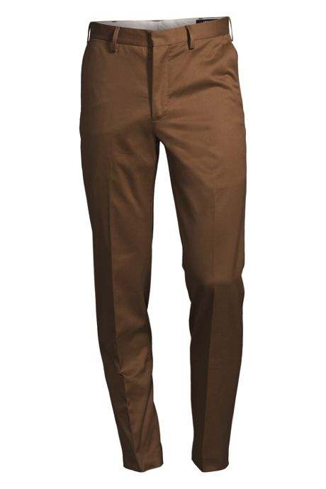 Men's Plain Front Tailored Fit No Iron Twill Dress Pants
