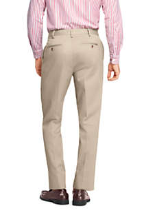 Men's Tailored Fit No Iron Twill Dress Pants, Back