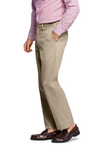 Men's Tailored Fit No Iron Twill Dress Pants