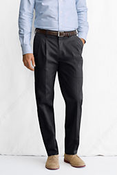 Men's Pleat Front Tailored Fit No Iron Dress Twill Trousers