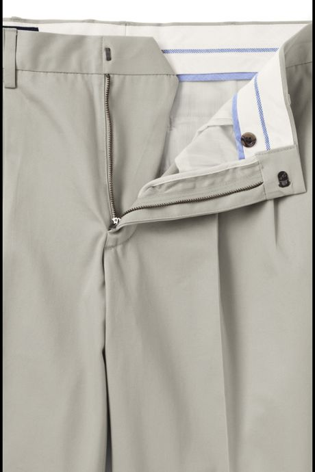Men's Tailored Fit Pleated No Iron Twill Pants