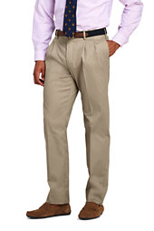 Lands' End Men's Pleat Front Tailored Fit No Iron Twill Dress Pants