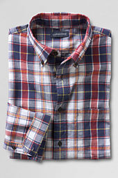 Men's Long Sleeve Aged Navy Madras Shirt