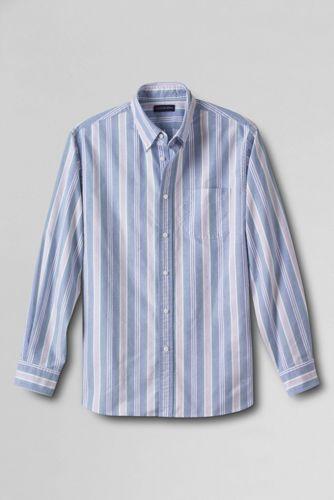 Men's Regular Long Sleeve Patterned Sail Rigger Oxford Shirt Traditional Fit