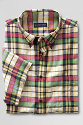 Men's Short Sleeve Colonial Yellow Madras Shirt