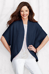 Women's Elbow Sleeve Starfish Terry Cardigan