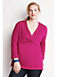 Women's Plus Drape Deep V-neck Tunic