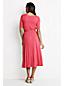 Viskose-Jerseykleid mit V-Ausschnitt für Damen