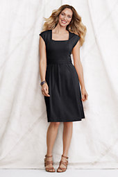 Women's Cotton Blend Square Neck Dress