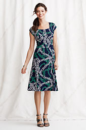 Women's Pattern Squareneck Dress