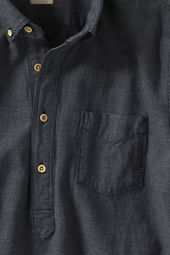 Men's Indigo Check Popover Shirt