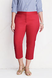Women's Plus Size Coin Pocket Stretch Chino Crop Pants