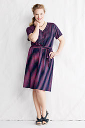 Women's Plus Size Smock Waist Pattern Dress