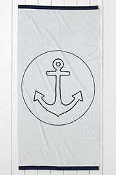 Anchor Icon Beach Towel