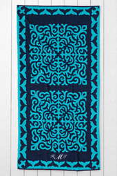 Whale Tail Suzani Beach Towel
