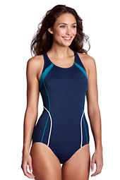 Women's AquaFitness Butterfly Scoop One Piece Swimsuit with Tummy Control