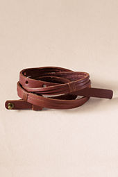 Women's Skinny Split Leather Belt