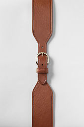 Women's Wide Leather Dress Belt