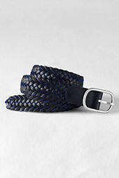 Men's Braided Leather Belt