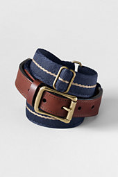 Men's Striped Elasticated Belt