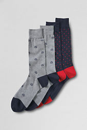 Men's Cotton Oxford Stripe Dress Socks