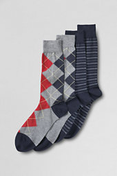 Men's Cotton Blend Patterned Socks (2-pack)