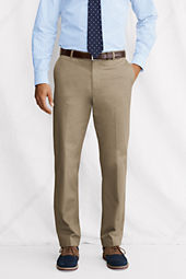 Men's Tailored Fit Plain Front Supima Cotton Twill Trousers