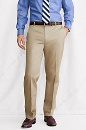 Men's Traditional Fit Plain Front Supima Cotton Twill Trousers