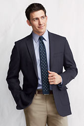Men's Traditional Fit Wool Traveler's Blazer