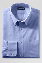 Men's Tailored Fit 40's Solid End-on-End Buttondown Dress Shirt