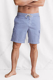 "Men's 9"" Seersucker Cargo Board Shorts"