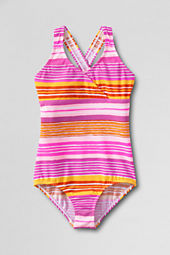 Girls' Smart Swim Crossover One Piece Swimsuit