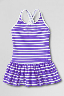 Girls' Smart Swim Skirted Swimsuit