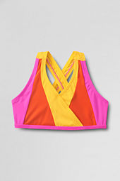 Girls' Smart Swim Colorblock Bikini Top