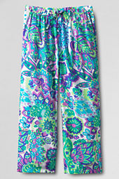 Girls' Woven Beach Capri Pants