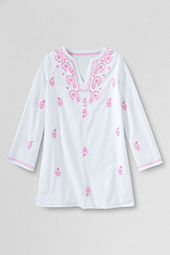 Girls' Woven Pattern Tunic Cover-up