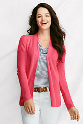 Women's Long Sleeve Linen Cotton Shaker Drape Cardigan