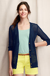 Women's Three-Quarter Sleeve Cardigan