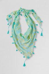 Girls' Handkerchief Fringe Scarf