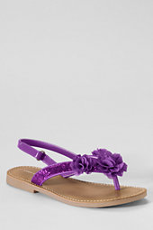 Girls' Posy Glitter Flower Sandals