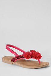 Girls' Posey Glitter Flower Sandals