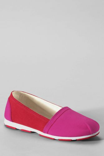 Lands' End Girls' Alpargata Slip-on Shoes - 9, Pink thumbnail
