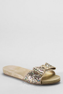 Girls' Coco Glitter Bow Slip-ons