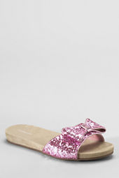 Girls' Coco Glitter Bow Slides