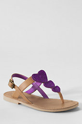 Girls' Phoebe Glitter Heart Sandals