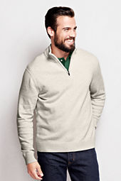 Men's Long Sleeve Half-zip Elbow Patch Active Sweater
